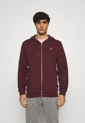 veste en sweat zippée - mottled bordeaux