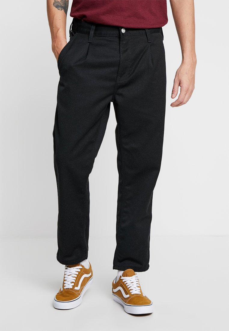 Carhartt WIP - ABBOTT PANT DENISON - Broek - black rinsed