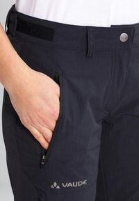 Vaude - WOMENS FARLEY STRETCH ZIP PANTS - Pantaloni - black - 4