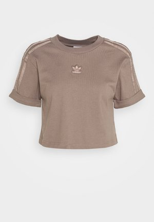 CROPPED - Camiseta estampada - trace brown