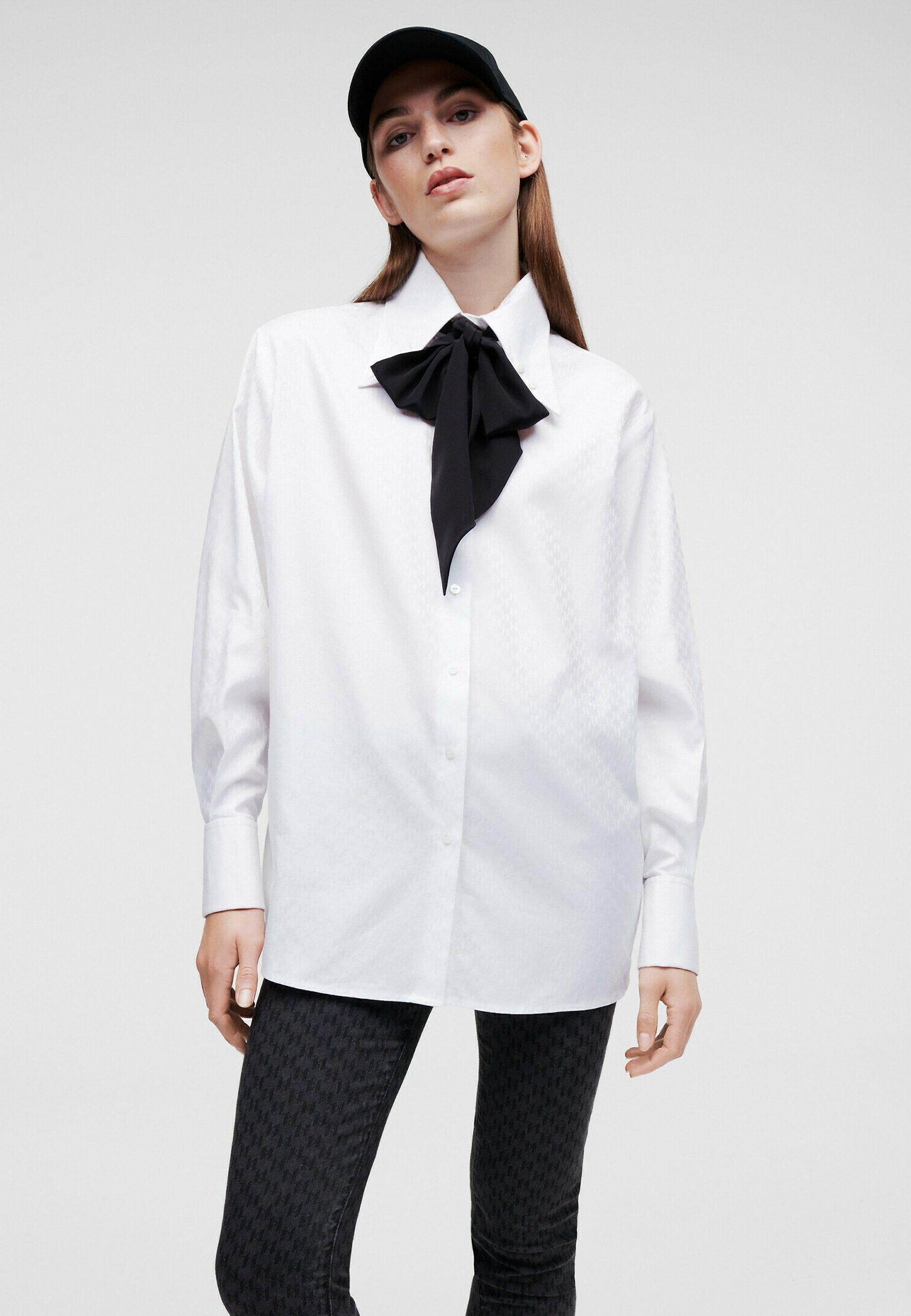 Mujer KL MONOGRAM POPLIN - Camisa