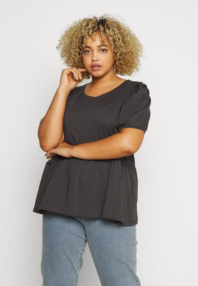 CARANNI PUFF - T-shirt z nadrukiem - dark grey