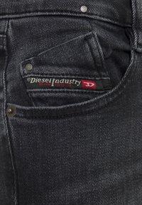Diesel - D-EBBEY - Flared Jeans - washed black - 2