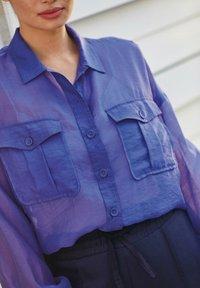 Next - Button-down blouse - blue-grey - 3