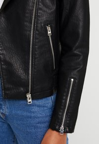 Topshop - LUCKY - Faux leather jacket - black - 5