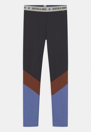 COLOUR-BLOCK SPORT  - Leggings - black