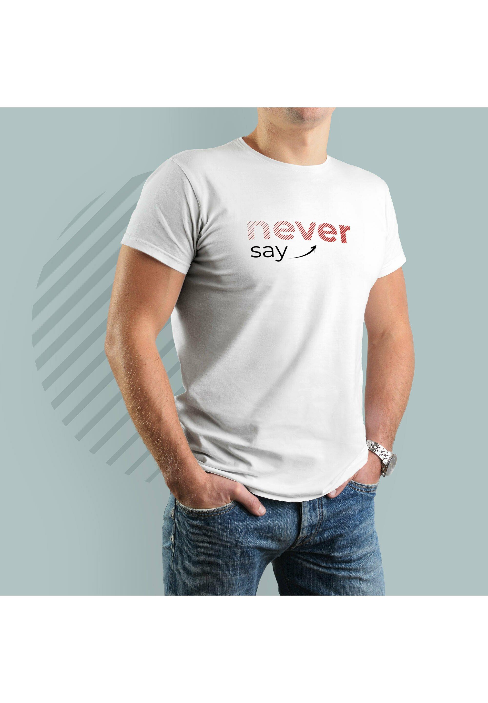 Herren NEVER SAY NEVER - T-Shirt print