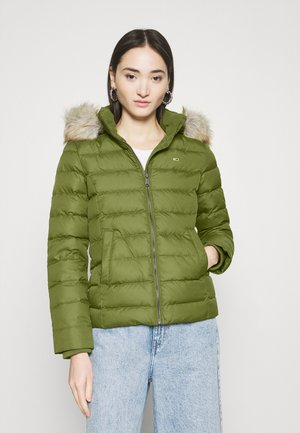 BASIC HOODED JACKET - Doudoune - olive tree