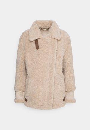BOBBIO - Short coat - sabbia