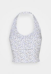 Hollister Co. - BARE HALTER - Topper - white pattern - 1