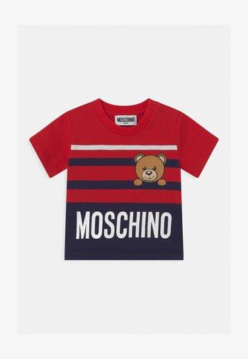 Print T-shirt - poppy red/blue navy