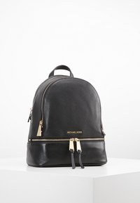 MICHAEL Michael Kors - RHEA ZIP BACKPACK SMALL - Plecak - black - 0