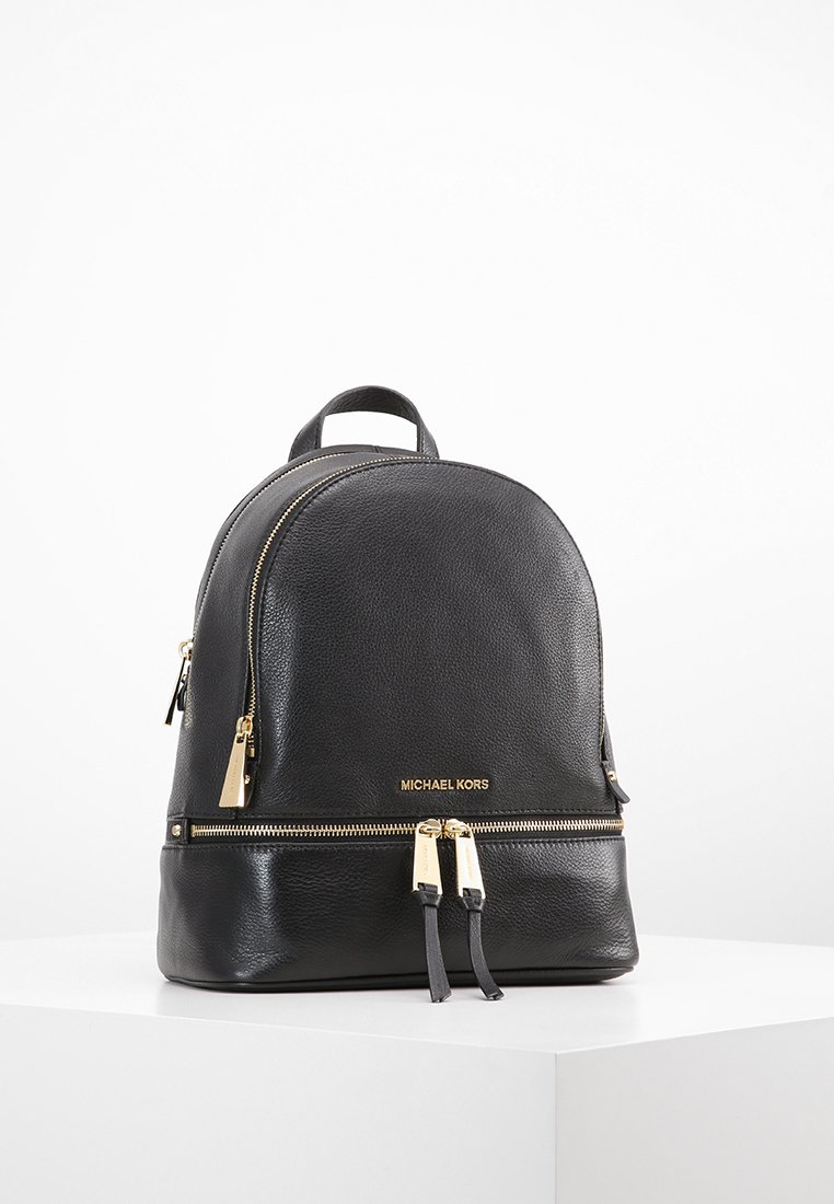 MICHAEL Michael Kors - RHEA ZIP BACKPACK SMALL - Plecak - black