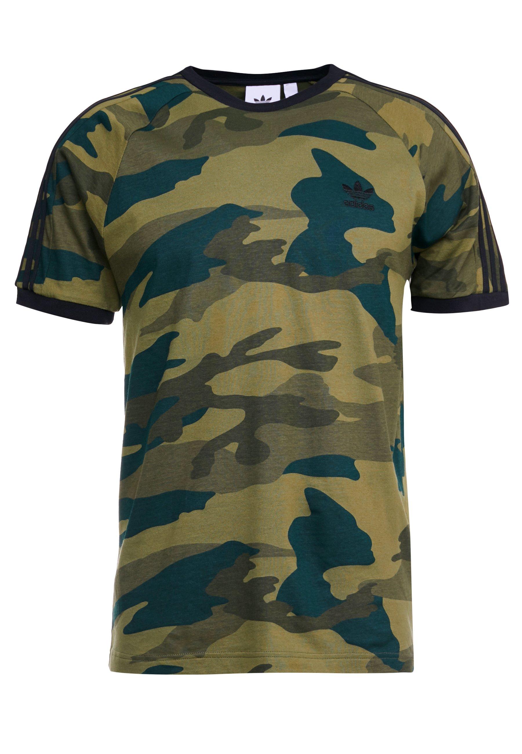 Adidas Originals Camo Cali Short Sleeve Graphic Tee - T-shirt Z Nadrukiem Multicolor