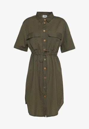 NMHIRAM SHIRT DRESS - Shirt dress - khaki