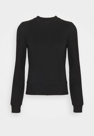BASIC REGULAR FIT CROPPED SWEATSHIRT - Sweatshirt - black