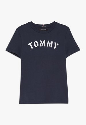 ESSENTIAL GRAPHIC TEE - T-shirt med print - blue