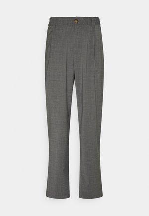SMOKE - Trousers - grey melange