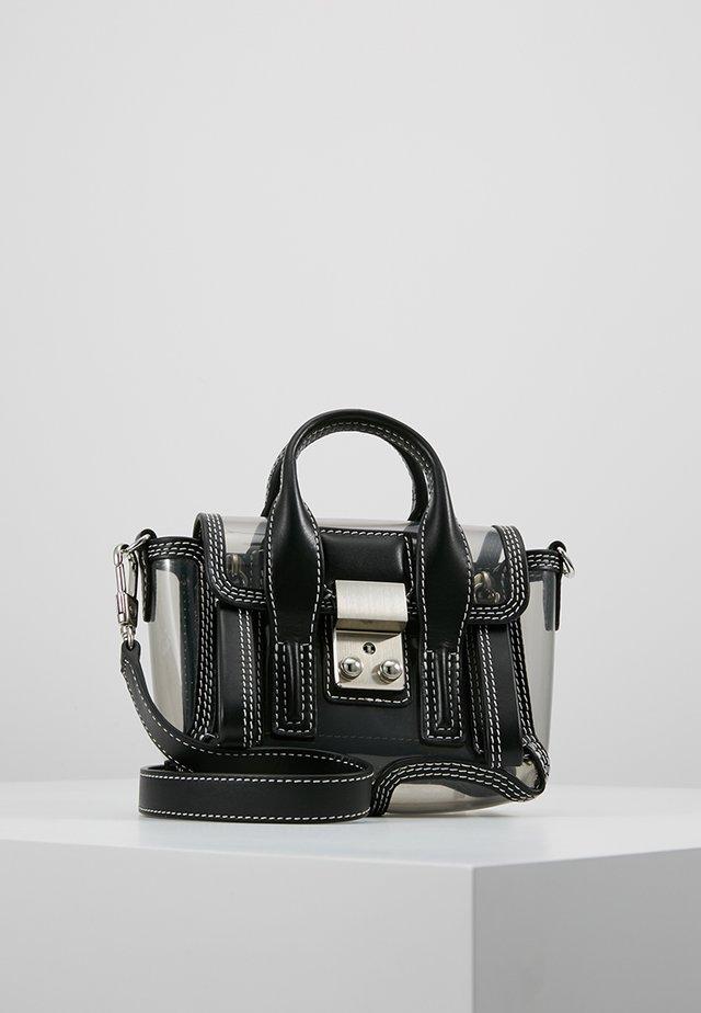 TRANSPARENT PASHLI NANO SATCHEL - Across body bag - black