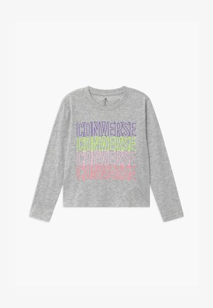 CONVERSE OUTLINED REPEATL TEE - T-shirt à manches longues - grey