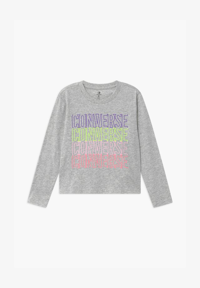 CONVERSE OUTLINED REPEATL TEE - Long sleeved top - grey