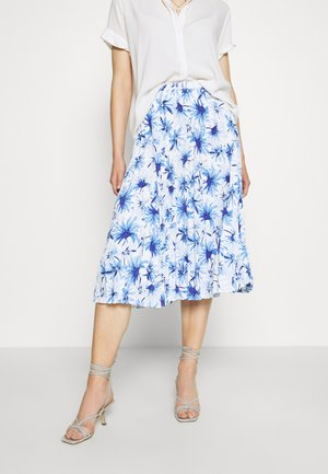 SARINA PLEATED SKIRT - A-line skirt - white/blue