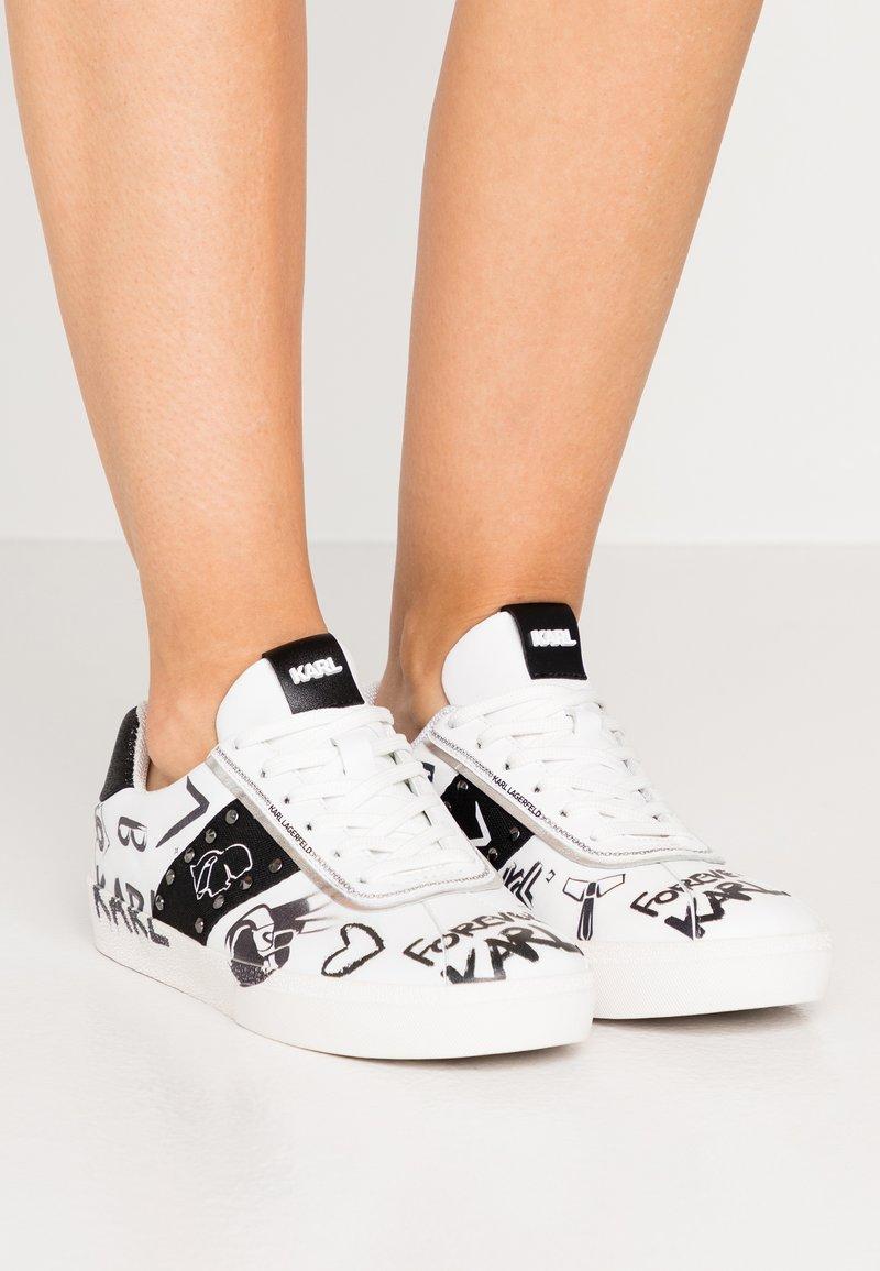 KARL LAGERFELD - SKOOL BANDANA LACE - Sneakers - white/black