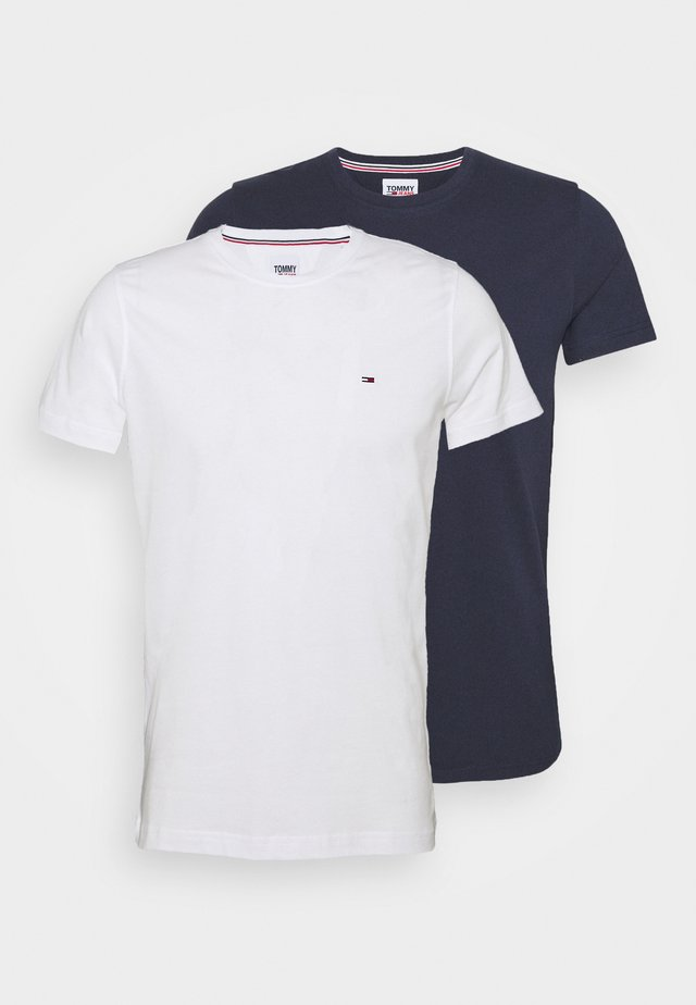 CNECK TEES 2 PACK - T-shirt basic - white/dark blue