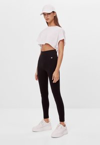 Bershka - Legging - black - 1
