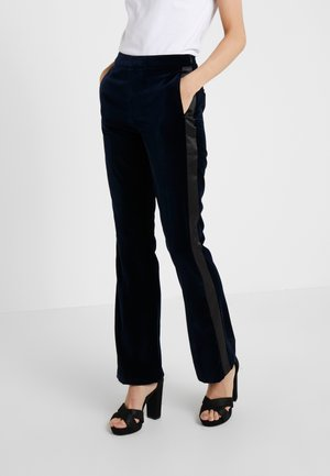 KARL VELVET TAILORED PANTS - Trousers - navy