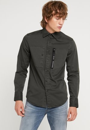 POWEL SLIM - Shirt - asfalt