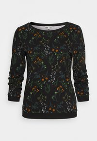 TOM TAILOR DENIM - SWEATER WITH PRINT - Sweatshirt - black - 0