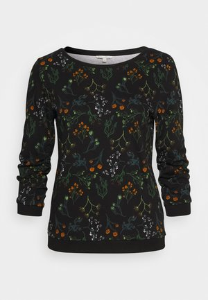 SWEATER WITH PRINT - Sweatshirt - black