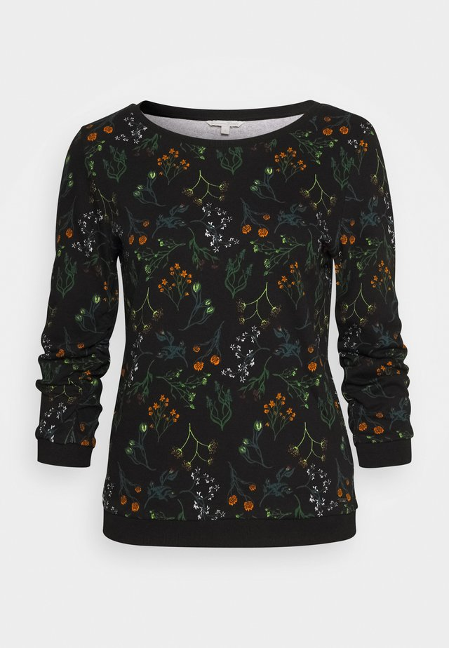 SWEATER WITH PRINT - Mikina - black