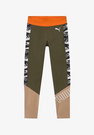 PUMA X ZALANDO GIRLS - Legging - olive night