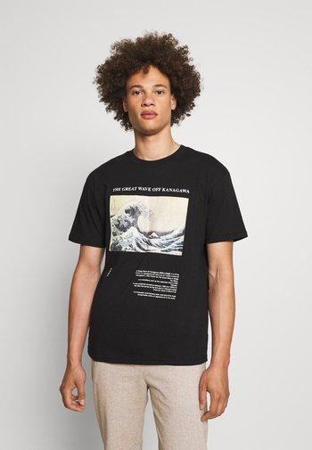WAVE - T-shirt imprimé - black