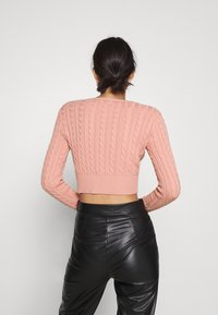 Glamorous - CABLE KNIT CROPPED  - Cardigan - dusty peach - 2