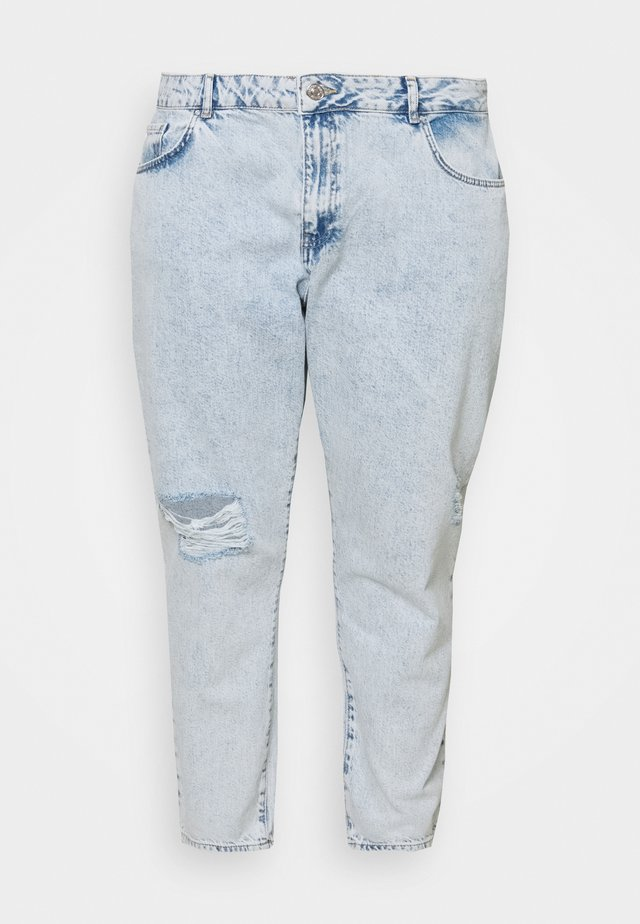 NMISABEL MOM - Relaxed fit jeans - light blue denim