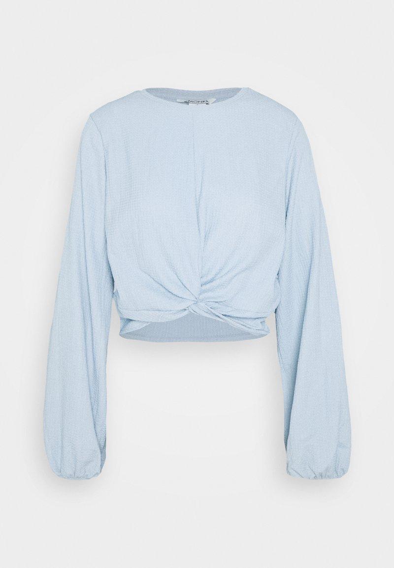 Monki SIRI - Bluse - solid blue as sketch/blau H2ZUEh