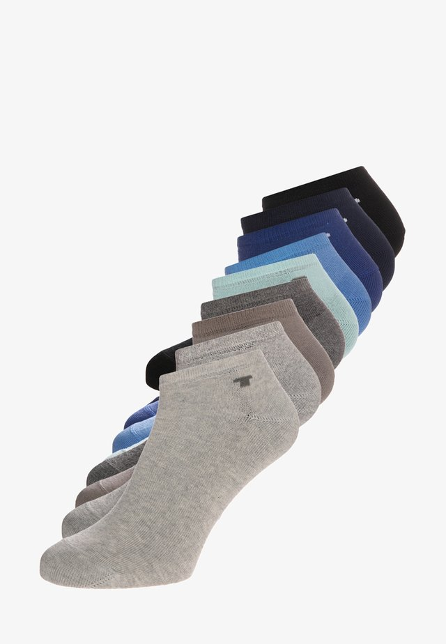 9 PACK - Ponožky - grau/mint/blau