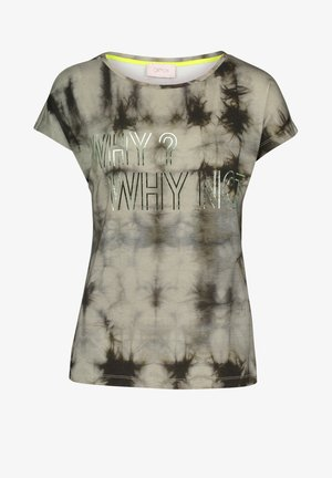T-Shirt print - green /khaki