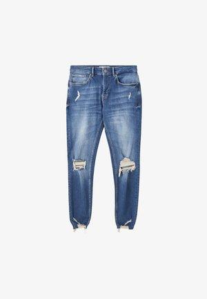 Skinny džíny - stone blue denim