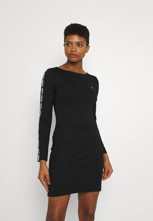 BODYCON TAPE DRESS - Trikotaažkleit - black