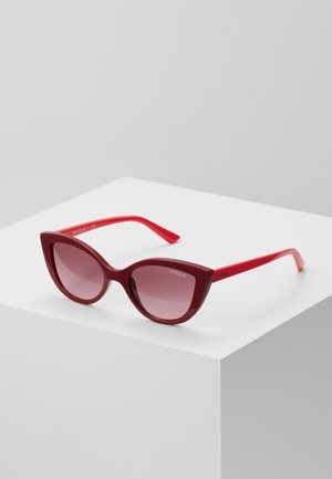 SUN - Gafas de sol - dark red/pink