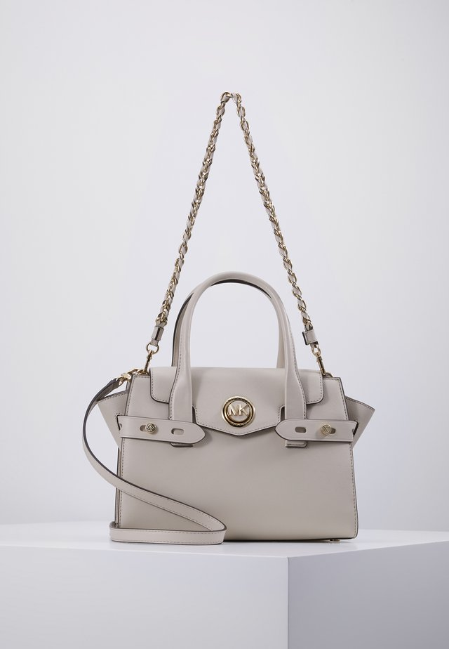 FLAP SATCHEL - Handbag - light sand