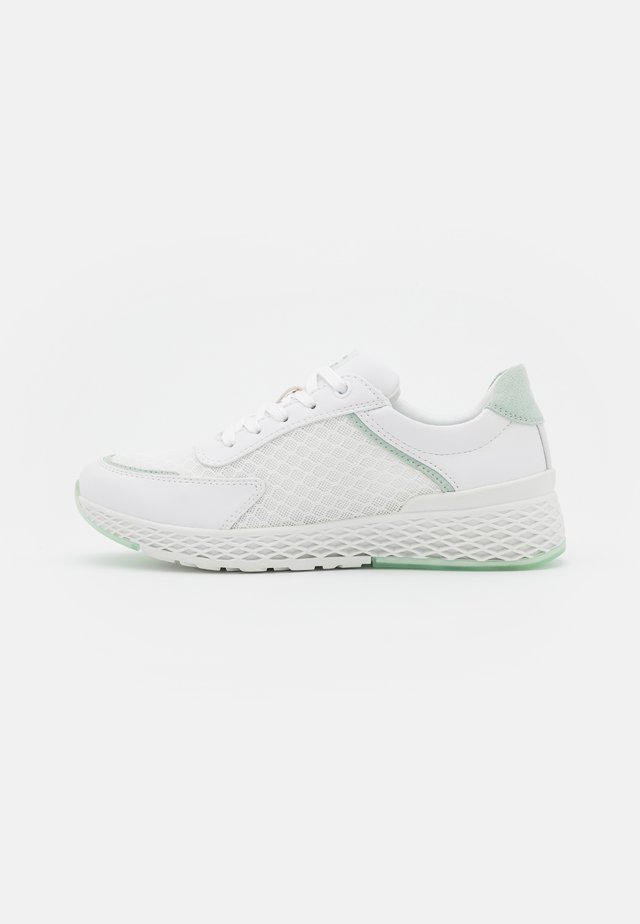 Joggesko - white/mint