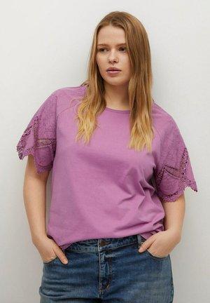 Print T-shirt - helllila/pastelllila