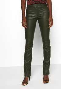 Ibana - LUCILLE - Leather trousers - green - 0