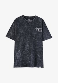 PULL&BEAR - T-shirt con stampa - mottled grey - 5