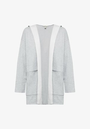 MIT KAPUZE - Cardigan - light grey